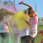 Justin Sheely | The Sheridan Press Enemy combatants ambush runners during the 5th annual Combat Color Run Saturday at Sheridan College. The event was hosted by and benefits the Student Veter ...