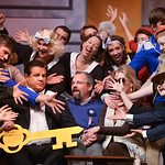 "Justin Sheely | The Sheridan Press Darrell White, as Tito Merelli, is overwhelmed from a big welcome by the Mayor, Tyson Emborg, and company during a rehearsal to the WYO Theater Gala ""Len ..."