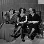 Justin Sheely | The Sheridan Press From left, Loretta Tonak, Missi Bubert and Sandra Hubert sit on a bench outside the theater during the WYO Theater's Gala Saturday evening at the WYO The ...