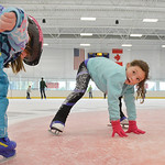 Justin Sheely | The Sheridan Press Five-year-old Khloe Thomas sets herself right during the season opening day Saturday at Whitney Rink at the M&M's Center. Open skate is Friday through Su ...