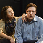 "Justin Sheely | The Sheridan Press Actors Stephanie Zukawski, left, flusters AJ Longhurst during a blocking rehearsal for the upcoming gala performance ""Lend Me a Tenor"" Thursday night a ..."