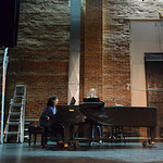 "Justin Sheely | The Sheridan Press Kathy McNickle plays a song for Heather Heath to practice during a rehearsal for the upcoming gala performance ""Lend Me a Tenor"" Thursday night at the  ..."