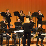"Justin Sheely | The Sheridan Press Students play during the Band Department's ""All That Jazz"" concert night Thursday at the Sheridan High School Sue Henry Auditorium."