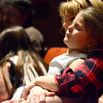 "Justin Sheely | The Sheridan Press Meg Montgomery holds Gracee Tellez, 5, during the Band Department's ""All That Jazz"" concert night Thursday at the Sheridan High School Sue Henry Audi ..."