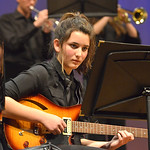 "Justin Sheely | The Sheridan Press Nandy Crabb plays the electric guitar during the Band Department's ""All That Jazz"" concert night Thursday at the Sheridan High School Sue Henry Audit ..."