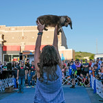 Justin Sheely | The Sheridan Press Kathy Lutz of Minnesota holds up her dachshund Claudia after winning the Oscar Mayer division race during the annual Wiener Dog Race at Black Tooth Brewing ...