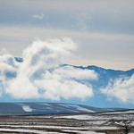 Justin Sheely | The Sheridan Press Clouds break up in front of the Bighorn Mountains late Friday, March 16, 2018.