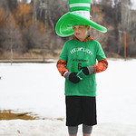 "Justin Sheely | The Sheridan Press Ten-year-old Drew Schneider waits for the race during the Sheridan Jaycees' annual ""Run 'Till your Green"" fun run/walk at Kendrick Park Saturday, M ..."