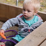 Ashleigh Fox | The Sheridan Press Malachi Schultz, 1, plays in a sandbox during the Wolf Creek Wrangle at Eaton's Ranch Saturday, Sept. 15, 2018. The Schultz family will work to receive a  ...