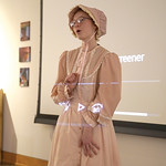Matthew Gaston | The Sheridan PressLilliana Kerns plays Louisa Swain, the first women to vote in Wyoming, during a living history performance at The Brinton Museum for The Sheridan Press'  ...