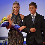 Justin Sheely | The Sheridan Press Emotions register on 2015 Miss Wyoming Mikaela Shaw's face as she is escorted for her final walk during the 2016 Miss Wyoming pageant Saturday night at t ...