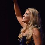 Justin Sheely | The Sheridan Press Miss Laramie Angela Thomas sings for the talent portion during the 2016 Miss Wyoming pageant Saturday night at the WYO Theater. Miss South Central Jordyn H ...