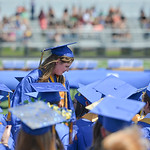 Justin Sheely | The Sheridan Press Valedictorian Julia Fenn steps out of her seat to give a speech during the 2016 commencement ceremony Sunday afternoon at Sheridan High School.