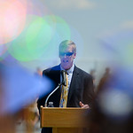 Justin Sheely | The Sheridan Press Sheridan High School Principal Brent Leibach speaks during the 2016 commencement ceremony Sunday afternoon at Sheridan High School.