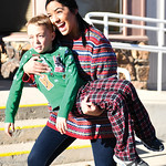 Matthew Gaston   The Sheridan PressMiss Wyoming 2018 Beck Bridger clowns around with 7-year-old Camdin Miles after the Tongue River Community Center's Ugly Sweater Run Saturday, Dec. 15, 2 ...