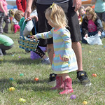Matthew Gaston | The Sheridan PressAnna Starr, 1, leisurely collects Easter eggs during the 2019 BWC Community Easter Carnival & Egg Hunt at the Bethesda Whorship Center Saturday, April  ...