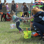 Matthew Gaston | The Sheridan PressViolet Taylor, 2, can not wait to start the Easter egg hunt during the 2019 BWC Community Easter Carnival & Egg Hunt at the Bethesda Whorship Center Sa ...