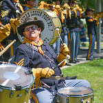 Justin Sheely | The Sheridan Press Six-year-drummer Jerry Barker plays with the American Legion Post 7 Drum and Bugle Corps during the 40th annual Dayton Days Saturday in the town of Dayton. ...