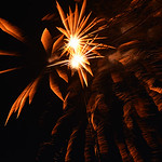 Justin Sheely | The Sheridan Press Fireworks by Bruce Burns explode in the sky during the 5th annual Ucross Christmas Celebration at the Raymond Plank Creative Center at Ucross Saturday, Dec ...