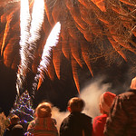 Justin Sheely | The Sheridan Press Children look on as fireworks by Bruce Burns light up the sky during the 5th annual Ucross Christmas Celebration at the Raymond Plank Creative Center at Uc ...