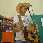 Justin Sheely | The Sheridan PressLocal musician Tris Munsick provides live music during the 6th annual Out of the Darkness walk Saturday at the YMCA. The event was organized by the Wyoming ...
