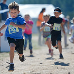 Justin Sheely | The Sheridan Press Six-year-old Aleks Carroll runs in the children's race during the Summer Festival Saturday at Antelope Butte ski area. The Antelope Butte Foundation host ...