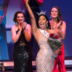 Justin Sheely | The Sheridan Press Sheridan's Becky Bridger celebrates after winning the Miss Wyoming 2018 title at the WYO Performing Arts and Education Center Saturday, June 23, 2018.