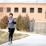 Matthew Gaston | The Sheridan Press12-year-old Mariah Aragon toughs it out and is the first person to finish the CHAPS Ugly Sweater 5K in an impressive 22 minutes Saturday, Dec. 1, 2018.