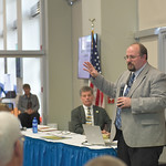 Ryan Patterson | The Sheridan Press Sheridan Economic and Educational Development Authority administrator Robert Briggs speaks during an update on SEEDA at Sheridan College Tuesday, April 16 ...