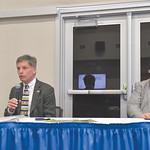 Ryan Patterson | The Sheridan PressWyoming Gov. Mark Gordon, left, speaks while Sheridan Economic and Educational Development Authority administrator Robert Briggs looks onduring an update  ...