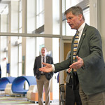 Ryan Patterson | The Sheridan Press Wyoming Gov. Mark Gordon talks with audience members before an update on the Sheridan Economic and Educational Development Authority at Sheridan College T ...
