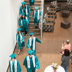 Matthew Gaston | The Sheridan PressJohn C. Schiffer Collaborative School class of 2019 makes their way from the Nehjt Gallery to Kinnison Hall for graduation Saturday, May 25, 2019.
