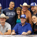 Matthew Gaston | The Sheridan PressCast members of the hit television shoe, Longmire, pose for a photo with Longmire creator Craig Johnson before an autograph signing at the Bomber Mountain  ...