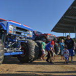 Justin Sheely | The Sheridan Press A monster truck fans visit monster truck drivers and receive autographs for the VIP pit stop event prior to the Mega Promotions Monster Truck show Saturday ...