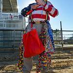 Justin Sheely | The Sheridan Press Chuckles the Clown makes balloon toys for the VIP pit stop event prior to the Mega Promotions Monster Truck show Saturday at the Sheridan County Fairground ...