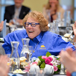 Justin Sheely | The Sheridan Press Tempe Murphy reacts as she is named Woman of the Year during the 2017 FAB Women's Conference Friday at the Sheridan College Whitney Atrium. Murphy was ho ...
