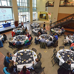 Justin Sheely | The Sheridan Press Guests and conference participants mingle at the dinner event during the 2017 FAB Women's Conference Friday at the Sheridan College Whitney Atrium. Tempe ...