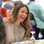 Justin Sheely | The Sheridan Press Gretchen McCafferty visits at the dinner table during the 2017 FAB Women's Conference Friday at the Sheridan College Whitney Atrium. Tempe Murphy was nam ...