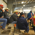Justin Sheely | The Sheridan Press People wait for the rodeo to begin during the performance of the Northern Plains Indian Rodeo regional finals Saturday at the Sheridan College AgriPark.