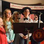 Justin Sheely | The Sheridan Press Holy Name Catholic School students, from left, Katie Hart, Madison Peterson, Zia Brown, Danny Magera and Peter LaRosa sing during a rehearsal Thursday for  ...