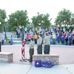 Matthew Gaston | The Sheridan PressBoy Scout Troop 117 presented the colors for the National Anthem for the opening ceremony for the Relay for Life Saturday, June 22, 2019.