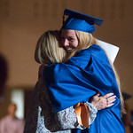 Justin Sheely | The Sheridan Press Mallarie Apodaca hugs her grandmother Meg Montgomery after receiving her diploma during the class of 2018 commencement ceremony at Sheridan High School Sun ...