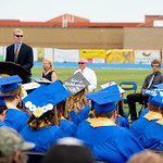 "Matthew Gaston | The Sheridan PressOne graduating senior decorated her mortar board with the words ""Good Riddance."" during the Sheridan High School commencement ceremony Sunday, May 26,  ..."