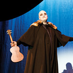 "Matthew Gaston | The Sheridan PressCody Heaps demonstrates is chops on the stage and the ukulele as Uncle Fester in ""The Addams Family"" Thursday, Oct. 18, 2018."