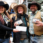 Matthew Gaston   The Sheridan PressBailey McLean, left, presents rider Melissa Ostrander and snowboarder Cal Douglas with the awards for first place in the snowboard class at the first ever  ...