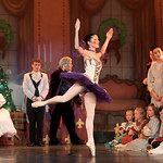 "Matthew Gaston | The Sheridan PressIzzy Overstreet dances as the ballerina doll during the dress rehearsal for the San Diego Ballet's production of ""The Nutcracker"" at the WYO Performi ..."