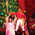 "Matthew Gaston | The Sheridan PressTonatuih Gomez as the Cavalier stands ready to defend Abigail Coonis as Clara from the King Rat and his horde during ""The Nutcracker"" Wednesday, Dec. 4 ..."
