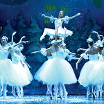 "Matthew Gaston | The Sheridan PressSnowflakes flitter around the Snow Queen, played by Zoe Marinello-Kohn, during the dress rehearsal for the San Diego Ballet's production of ""The Nutcra ..."