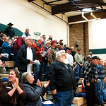 Matthew Gaston | The Sheridan PressUnited States veterans receive a round of applause in recognition of their service at Tongue River Middle School during the Veterans Day Assembly Thursday, ...