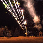 Matthew Gaston | The Sheridan PressThe fireworks provided by Bruce Burns lit up the night sky during the Ucross Community Christmas Celebration Saturday, Dec. 15. 2018.
